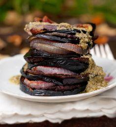 The Forest Feast: Beet, Onion + Eggplant Stack - Umami Mart Umami Mart