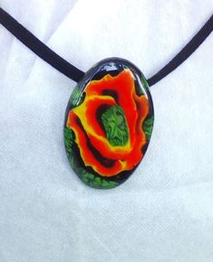 Polymer Clay Necklace, Polymer Clay Pendant, Handmade Polymer Clay, Precious Metal Clay, Rose Necklace, Jewelry Photography, Red Roses, Handmade Jewelry, Pendants