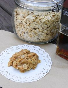 Vermont Maple No-Bake Cookies -     1/4 c. butter  1/2 c. pure maple syrup (preferably grade B)  2 T. milk  1/2 tsp. vanilla extract      Pinch of salt  1/4 c. almond butter  3/4 c. old-fashioned oats