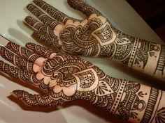 Bridal mehndi hands,