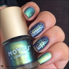 Beauty hack mo you london stamping nail art rsvp easy summer Nagel Stamping, Stamping Nail Art, Moyou Stamping, French Nails, Uñas Fashion, Space Nails, Garra, Nagel Gel, Cool Nail Designs