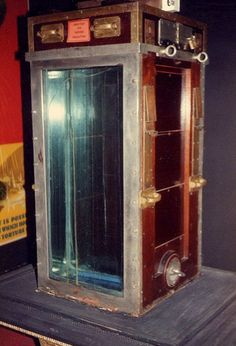 Harry Houdini's Water Torture Cell at the Houdini Magical Hall of Fame in Niagara Falls, Canada