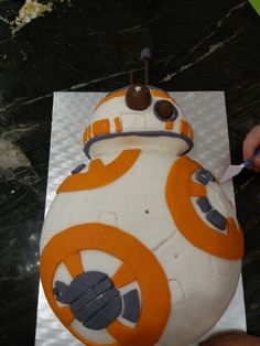 BB8 cake made by Caitlin