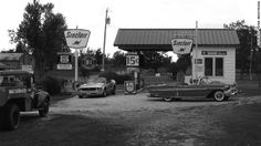 The Gay Parita Sinclair Station, three miles west of Halltown, Missouri, and other gas stations along Route 66 fed the cars and trucks driving on the famous highway.