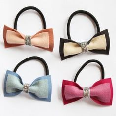 Bow Tie Ponytail Holder - accessories
