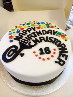 For a Tuba Player! Music Birthday Cakes, Music Cakes, Birthday Cakes For Men, 16th Birthday, Violin Cake, Birthday Celebration, Birthday Wishes, Cupcake Cookies, Cupcakes