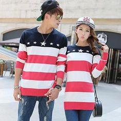 Couple Star Stripe Top from #YesStyle <3 Hanee YesStyle.com