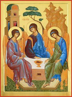 Trinidad, Prayer Images, Biblical Art, Byzantine Icons, Orthodox Icons, Religious Art, Order Prints, The Hobbit, Medieval