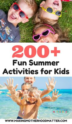 Ready to have the best summer ever? Here you'll find everything you need for fun summer activities for kids and toddlers too. This includes a printable summer bucket list of 50 activities, a list of over 100 activities for kids, 150 rainy day activities, Activities For 2 Year Olds, Rainy Day Activities, Summer Activities For Kids, Indoor Activities, Sensory Activities, Infant Activities, Summer Games, Summer Safety Tips, Summer Fun For Kids