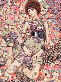 Vogue Italia December 2007. Vogue Patterns by Steven Meisel. Color palette composition made by ColourLovers.