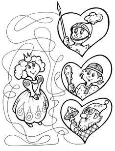 Zoek de goede weg naar de prinses met kleuters / Лабиринты для детей от 4 лет. Принцесса