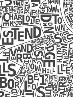 "new to-the-edge nashville neighborhood ""hood print"""