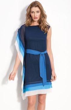 Vince Camuto Layered tier dress with sash tie. I like this, but not sure if I would ever have a place to wear it?!
