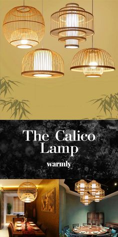 Calico - Hanging Bamboo Lamps from Warmly - Decoración interior - beleuchtung Kitchen Lighting, Home Lighting, Apartment Lighting, Lighting Ideas, Room Decor Bedroom, Living Room Decor, Bedroom Plants, Master Bedroom, Hanging Lights