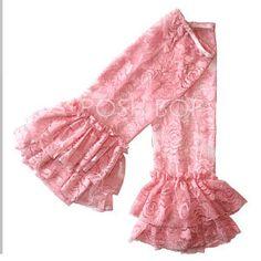Ruffle Lace Leg Warmers - Newborn Baby Infant Girls Toddler (Pink) $7