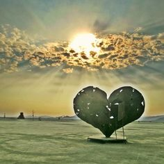 Burning Man Heart Sculpture- this is a beautiful shot and captures how it feels when you experience all the greatness of BM ;)