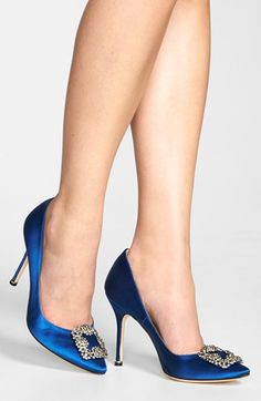 My wedding shoes! Classy, elegant, timeless beauty. Manolo Blahnik 'Hangisi' Jeweled Pump | Nordstrom