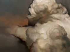 "Ambera Wellmann | Cloud #41 18"" x 24"" Oil on Wood 2010"