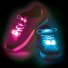 Shoes laces that light up thanks to the LEDs inside them.