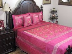Pink India Inspired Bedspread Trendy 5P Embroidered Bedding Set w/ Pillow Shams by NovaHaat, http://www.amazon.com/dp/B008ELJLMA/ref=cm_sw_r_pi_dp_qMrnqb03NVA8Q    Gorgeous!  I wish I could have a pink bedroom