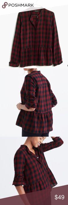NEWMADEWELL Lakeside Peplum Shirt NEWMADEWELL Lakeside Peplum Shirt in Buffalo Check. ❌no trading or holding✅ACCEPTING REASONABLE OFFERS✅ Madewell Tops