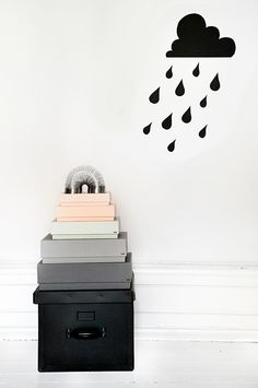 Charming and definite.  Love it.  DIY Paper wall decoration by trendenser.se
