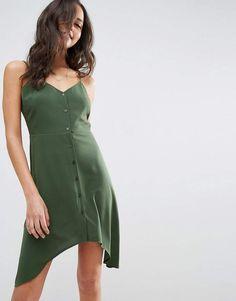 ASOS Button Through Sun Dress With Dipped Hem, Affiliate