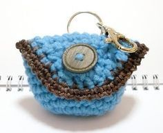 Nicely Created For You: free crochet patterns - mini purse key tag