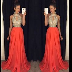 Evening dresses for the wedding Evening dresses for the wedding prom dresses 2016 high neck evening dresses cheap bridesmaid dresses orange long dresses DJXNQAS Orange Long Dresses, Sexy Formal Dresses, Orange Bridesmaid Dresses, Sparkly Prom Dresses, Prom Dresses 2016, Prom Dresses With Sleeves, Cheap Evening Dresses, Prom Gowns, Dress Prom