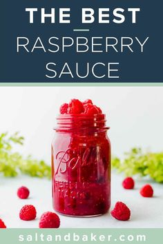 This is the best and most amazing raspberry sauce ever! It's perfect to put on cakes, cheesecakes, ice cream, angel food cake and so much more! It is thick, fresh and perfect for pancakes in the morning or dessert in the evening. Raspberry Topping For Cheesecake, Raspberry Ice Cream, Cheesecake Toppings, Raspberry Syrup, Raspberry Recipes, Dessert Sauces, Dessert Recipes, Homemade Syrup, Fudge Sauce