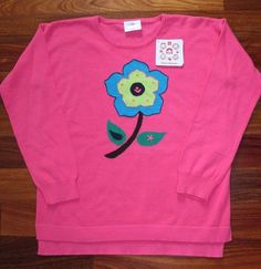 NWT Hanna Andersson Girls Pink Flower Winter Sweater Size 140 9 10 11 #HannaAndersson #Pullover #Everyday