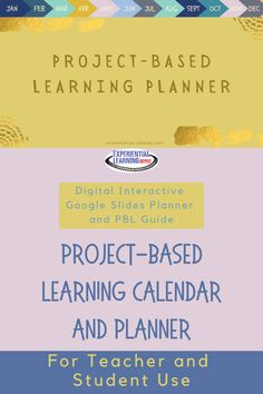 Organize your project-based learning experiences in this guided calendar and planner. It is digital with interactive drag and drop features, navigation links for efficient use, step-by-step tasks that guide project-based educators and leaners through the process, and more. This is a great organizational tool for self-directed project-based learners. #projectbasedlearning Student Planner, Teacher Planner, Teacher Tools, Teacher Hacks, First Year Teachers, Experiential Learning, Project Based Learning, Teaching Tips, School Stuff