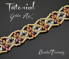 (5) Name: 'Jewelry : Golden Age - beadwoven bracelet pattern