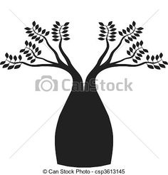 Vector - Australian boab tree - stock illustration, royalty free illustrations, stock clip art icon, stock clipart icons, logo, line art, EPS picture, pictures, graphic, graphics, drawing, drawings, vector image, artwork, EPS vector art