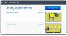 Online Circuit Simulator with real like interface makes it easier for you to understand electronics better than ever. Hop on and create your circuit right now! Circuit Simulator, Dc Ac, Science Resources, Circuits, Lab, Classroom, Technology, Teaching, Cool Stuff