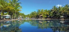 The pool at Le Mauricia, Mauritius