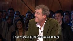 Jeremy was actually wrong. #TopGear