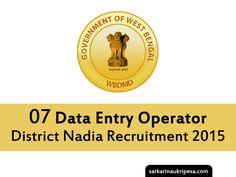 District Nadia Recruitment 2015