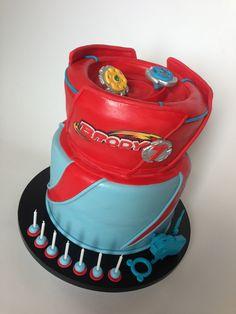 Beyblade cake!