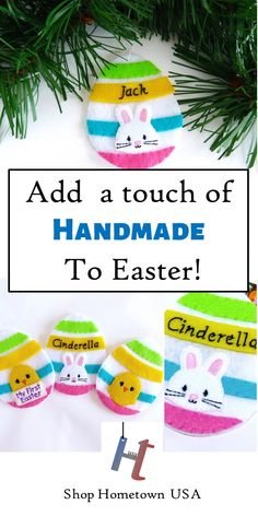 Easter egg ornament gift card holder personalized felt egg handmade felt easter egg gift card holder and ornament perfect when you dont know what to give for easter candy alternative for kids easter basket negle Images