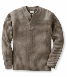Henley Commando Sweater, shown here in sable heather. I love British military-inspired style sweaters like this one on men. :) This particular one was inspired by those worn by the (British) S.A.S. Commando regiments in WWII. So masculine. I love it!