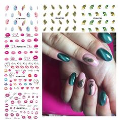 0.10$  Watch here - http://alimga.shopchina.info/go.php?t=32775925698 - ZKO 1 Sheet Optional Watermark Nail Stickers Feather Lips Designs Nail Art Water Transfer Sticker Decals Nails Wraps Decor  #magazineonline