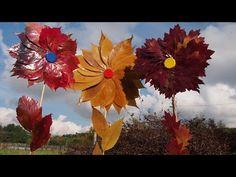 Jak zrobić kwiaty z liści #2, Leaf Flowers, Zrób to sam, DIY - YouTube
