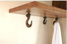 Hooks for the nautical bathrom