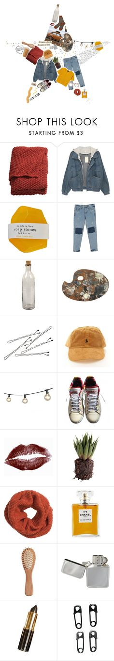 """""""indigo ➖"""" by fire-and-daisies ❤ liked on Polyvore featuring H&M, NKUKU, BOBBY, Bulbrite, Monki, adidas, Ted Baker, Chanel and The Unbranded Brand"""