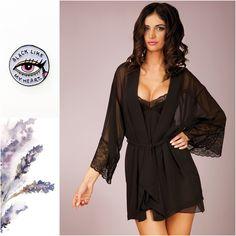 CHANTAL #bathrobe #nightwear #pijama #black #lace #sexy #sleep #unikat #underwear #lingerie #chantal