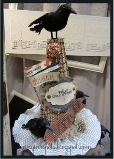 Halloween paper crafted witches hat