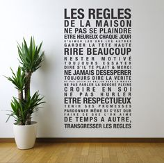 Vinyl Wall Decal Sticker Art French House Rules les by urbanwalls