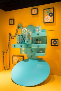 "HERMÈS,Sloane Street,London, UK, ""Curiosity Cabinet Part 2"", design by Millington Associates, pinned by Ton van der Veer"