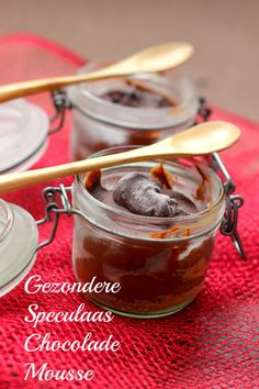 Chocolademousse met speculaas